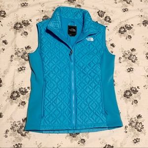The North Face bright blue vest size medium